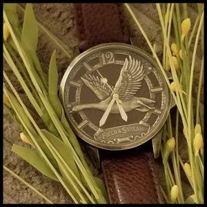 Field & Stream*Men's Brushed Goldtone Watch